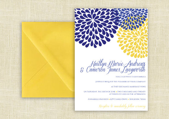 DiY Wedding Invitation Template - Download Instantly - EDITABLE ...