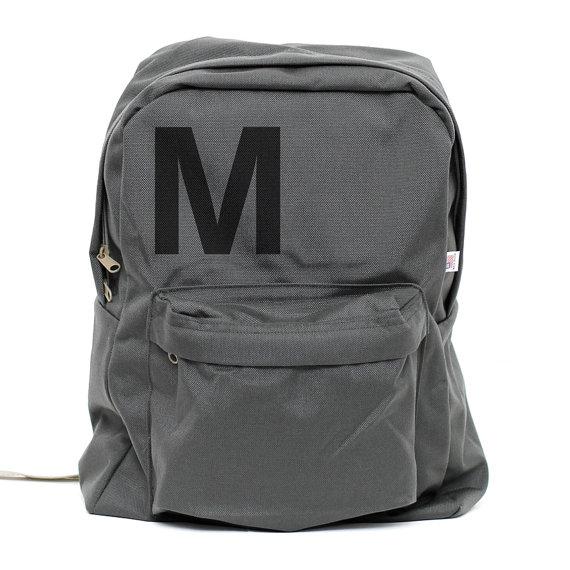 Свадьба - Backpack: Helvetica Monogram Backpack, (Men & Women) Monogram Bag, Personalized Groomsmen Gift, Men's Backpack, Women's Backpack, Rucksack