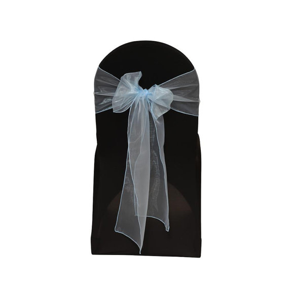 Свадьба - Light Blue Organza Chair Sash