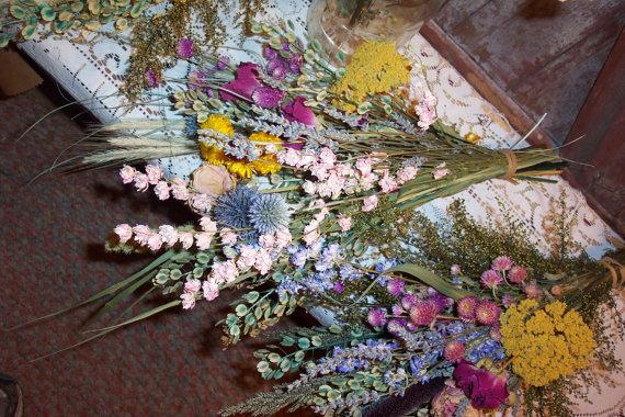 Свадьба - Dried Flower Bouquet