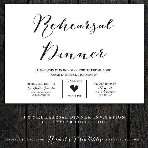 Hochzeit - Printable Rehearsal Dinner Invitation - The Skylar Collection