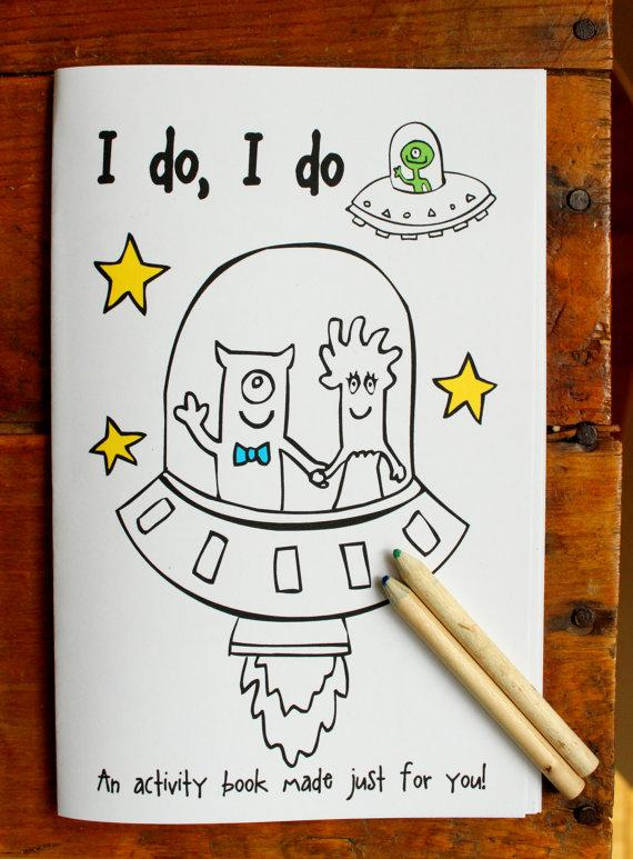 CUSTOM Order For Jessica - Wedding Coloring Book - Ring Bearer ...