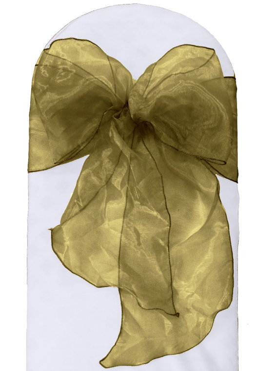 Mariage - Organza Sashes Chair Bows (Pack of 25). Made in the USA