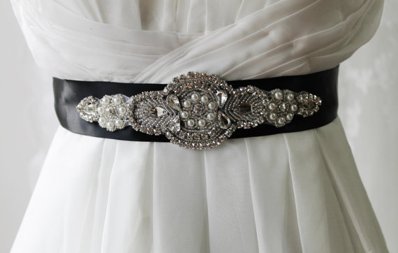Mariage - Bridal Rhinestone Belt,Bridal Rhinestone Sash,Wedding Rhinestone Belt,Wedding Accessories,Rhinestone Bridal Accessories A2250