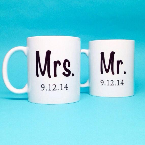 زفاف - Unique Wedding Gift Idea - Bridal Shower Gift - Mr and Mrs Coffee Mug - Unique Bridal Shower Gift - Wedding Gift Idea - Ceramic Coffee Mug