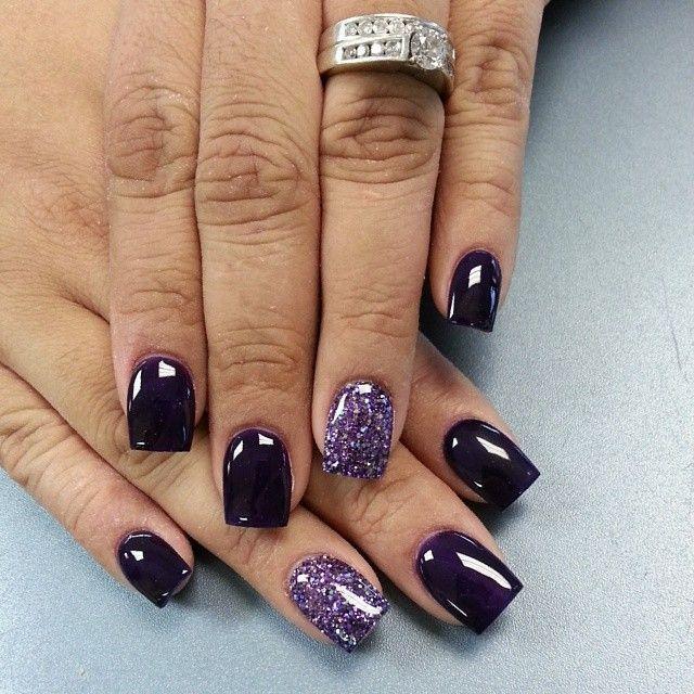 زفاف - Beautiful Dark Nails