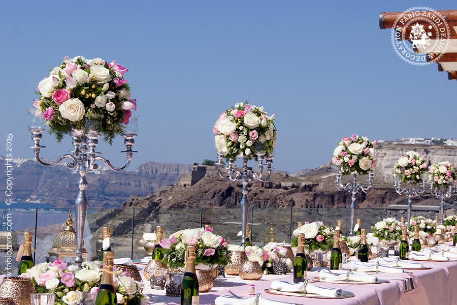 Wedding - Luxury dinner at Cavo Ventus Villa, Santorini