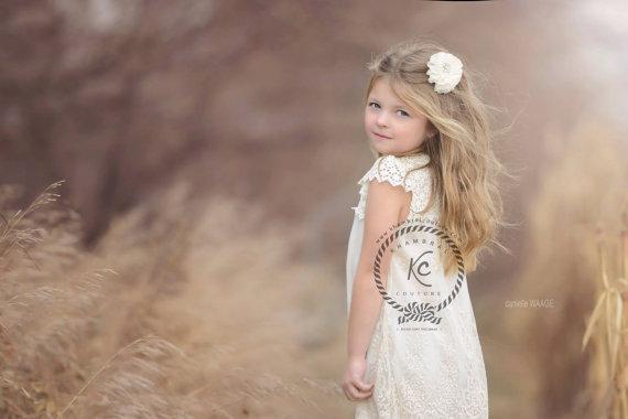 Свадьба - Flower Girl Hair Clip  Flower Girl  Rhinestone Hair Clip  Vintage Hair Clip Wedding Hair Clip