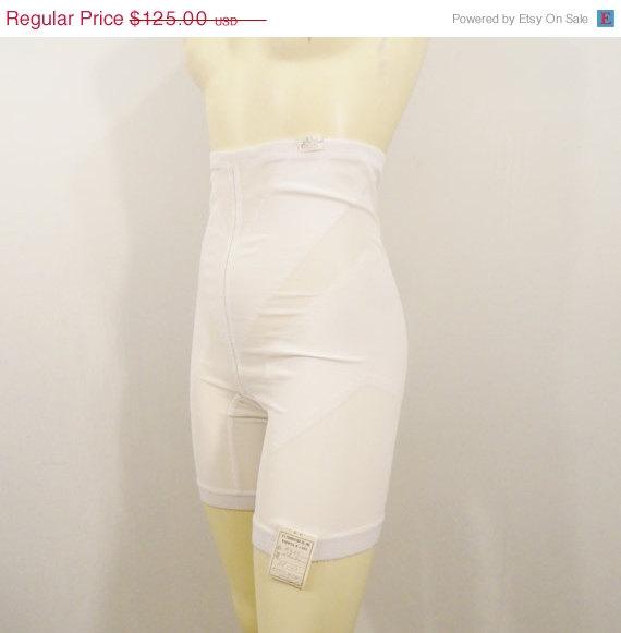 Bday Sale Vintage Panty Girdle Qt Foundation Shaper Long Line Deadstock Nwt White Sz 30