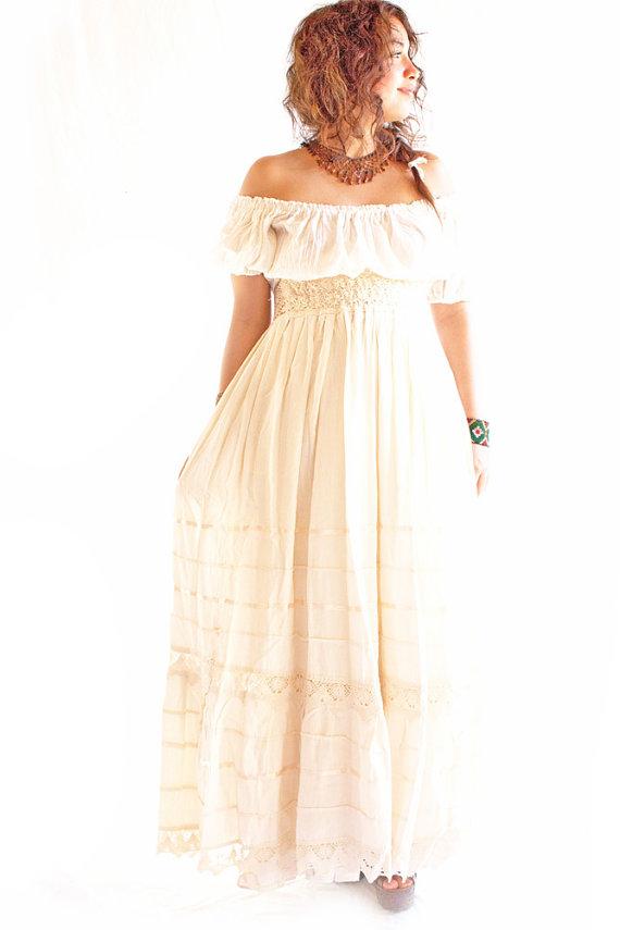 62557fe9ab Camelia Mexican Maxi Skirt Bohemian Dress Romantic Dreamy Wedding ...