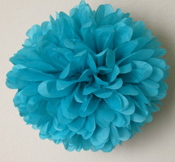 Mariage - Bright turquoise - one pom