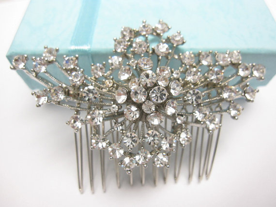Mariage - Bridal hair comb wedding hair jewelry bridal hair accessory wedding hair comb Crystal bridal comb wedding hairpiece bridal hair jewelry comb
