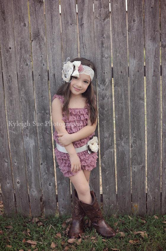 4da10136a Lace Romper SET-Baby Lace Romper-Petti Romper-Lace Petti Romper-Flower Girl  Dress-Birthday Outfit-Couture Girls Outfit-Photo Prop