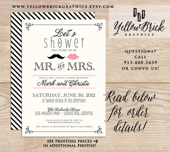 Couples Shower Invitation Couples Shower Invite Vintage Shower – Couples Shower Wedding Invitations