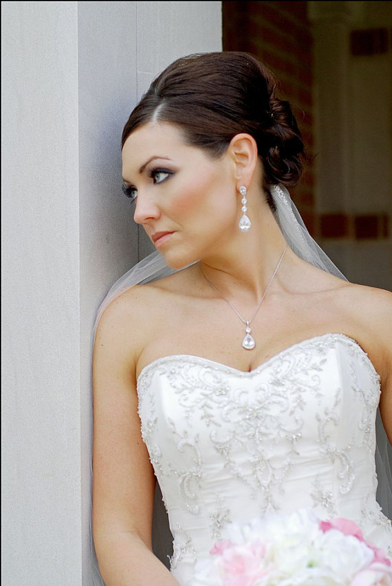 Crystal Bridal Set Wedding Jewelry Set Bridal Earrings And Necklace