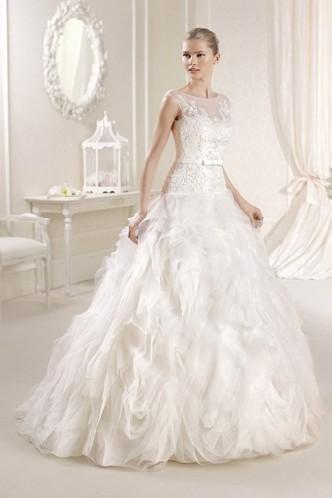 Wedding - Amazing Ivory Organza Lace Sleeveless Scoop Bridal Wedding Dress