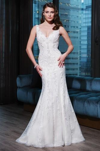 Свадьба - Sassy Sleeveless Floor-Length Zipper Spaghetti Straps Bridal Wedding Casual Dress
