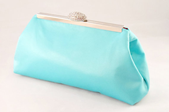 Hochzeit - Bridesmaid Gift Clutch, Aqua Blue And Red Bordeaux Bridal Clutch, Wedding Clutch, Mother Of The Bride Gift, Bridal Shower Gift Gift Ideas