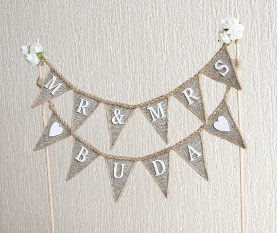 Wedding - Mr & Mrs Wedding Cake Topper, wedding rustic cake toppers, personalized wedding cake topper, custom wedding cake topper