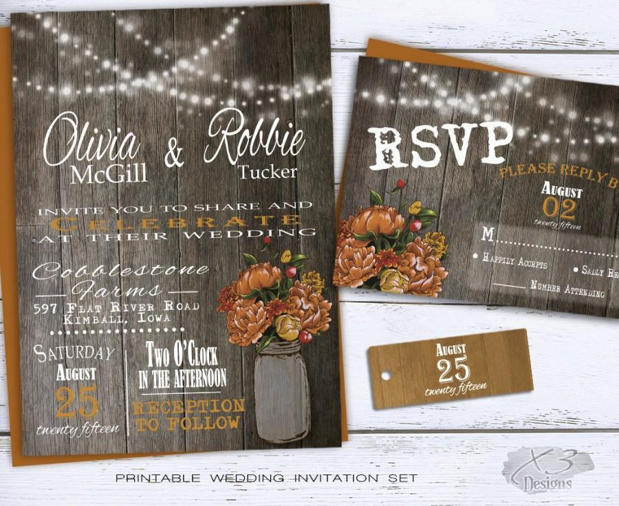 Rustic Fall Wedding Invitation 2316233 Weddbook