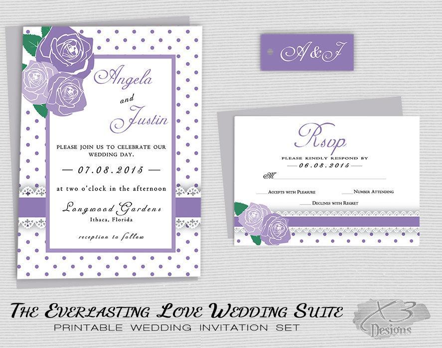 Rustic Backyard Wedding Invitations : Rustic Floral Wedding Invitation Printable, Country Wedding, Backyard
