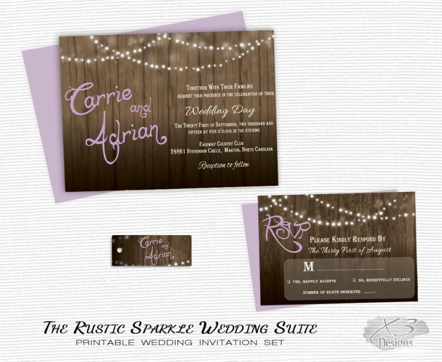 Rustic Wedding Invitation Printable Barn Wedding Country Wedding