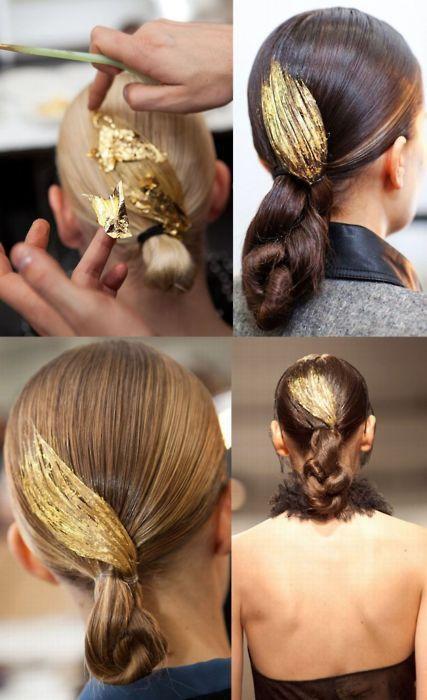 Mariage - 10 Radiant Gold Leaf Makeovers