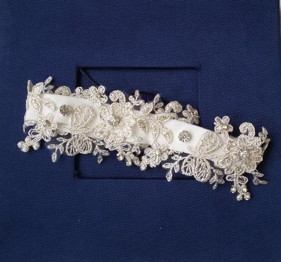 Hochzeit - Wedding leg garter, Wedding Leg Belt, Rustic Wedding Garter, Bridal Garter , İvory Lace, Lace Garters, ,Wedding Accessory,