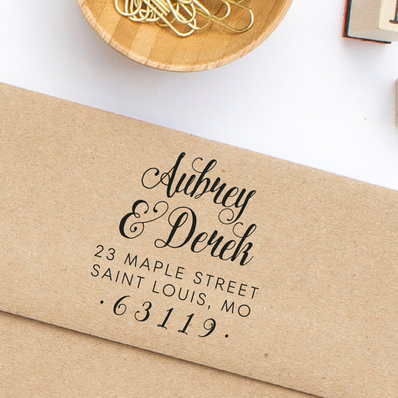 return address stamp wedding invitation address stamp calligraphy