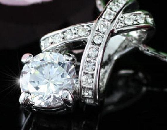 Mariage - Bridal Jewelry Set, Bridal Crystal Necklace, Bridesmaids necklace