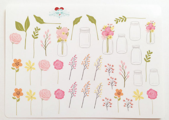 Mariage - Make your own bouquet of Wild Flowers, with Mason Jars