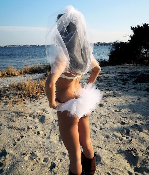 Mariage - Bikini Veil, Hair Veil, FREE Garter Package Booty Veil