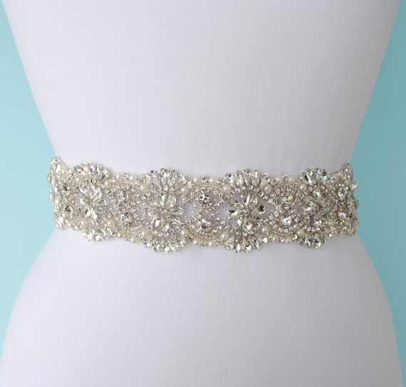 Hochzeit - Bridal Belt Wedding Belt Sash Belt Pearls Belt Rhinestone Belt Crystal Belt Rhinestones and Pearls Sash Bridal Sash Wedding Sash Dress Sash