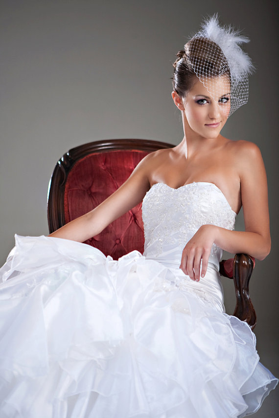 Mariage - 85% OFF- SAMPLE SALE Ally - Organza Wedding Gown, mermaid style wedding dress, fit and flare, sweetheart neckline, strapless, lace dress