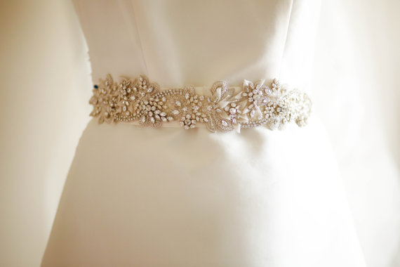 Свадьба - Bridal sashes and belts - Ophelia  (Made to Order)