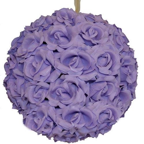 "Свадьба - 10 Lavender Kissing Balls Faux Lilac Purple 8"" Rose Balls Lavender Purple Hanging Kissing Balls Rose Kissing Balls Purple Pomander Balls"