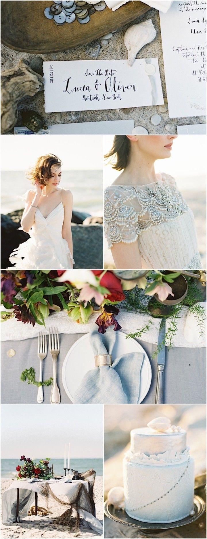 زفاف - Modern Shipwreck-Inspired Beach Wedding Shoot