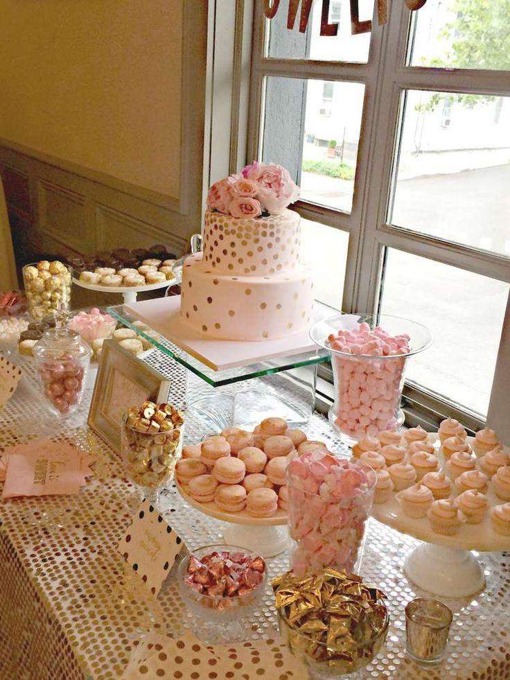 Bubbly Bar Blush Pink Amp Gold Bridal Wedding Shower Party Ideas 2317100
