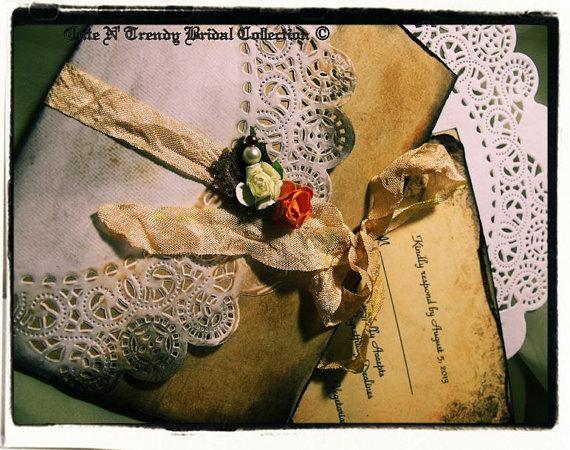 زفاف - Vintage inspired Wedding Collection Wedding / bridal shower invitation