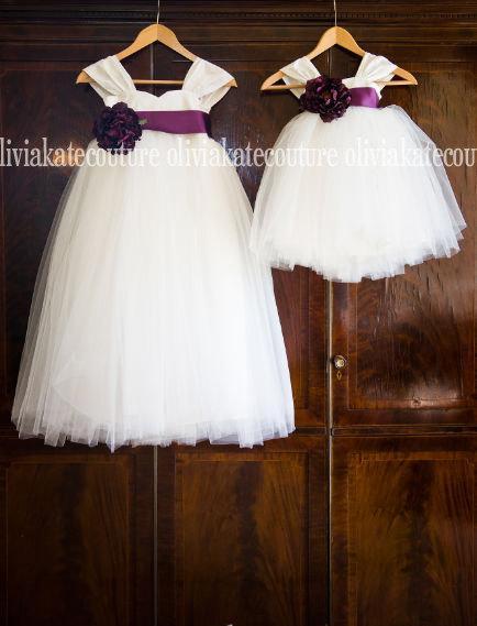 Mariage - Silk Flower Girl Dress