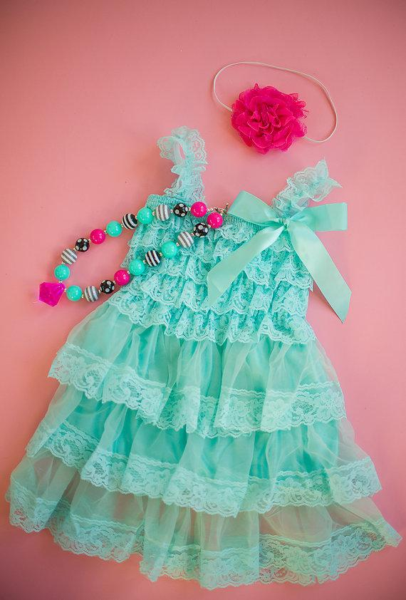 Flower Girl Dress, Frozen Birthday Dress, Aqua Tutu Dress, Baby ...