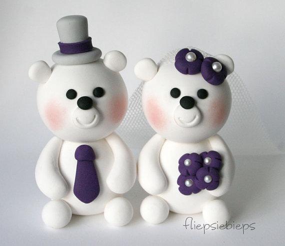 Custom Polar Bears Wedding Cake Topper