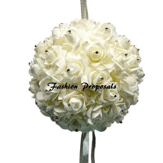 زفاف - Kissing Balls, Pomanders pomander balls Rose and rhinestone kissing balls, pomander set of 2