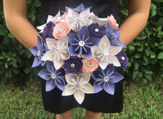 New Item Shabby Chic Paper Flower Bouquet Kusudama Origami