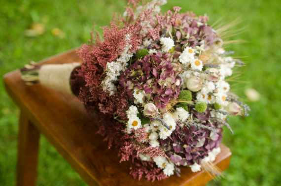 Свадьба - Burgundy hydrangea bridal bouquet, hydrangea bridal bouquet, burgundy, fall bridal bouquet, fall wedding, fall bouquet, autumn wedding