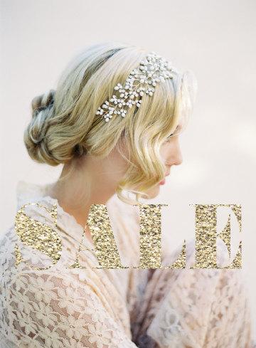 Hochzeit - Wedding Pearl Headband, Wedding Halo, Crystal Bridal Headband, Wedding Headpiece, Hair Vine, Bohemian Hair Crown, Wedding Accessories #1503