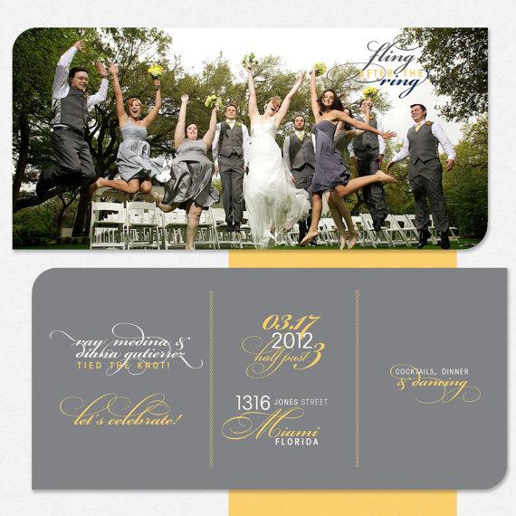 Wedding Reception Invite Post Wedding Celebration Save The Date