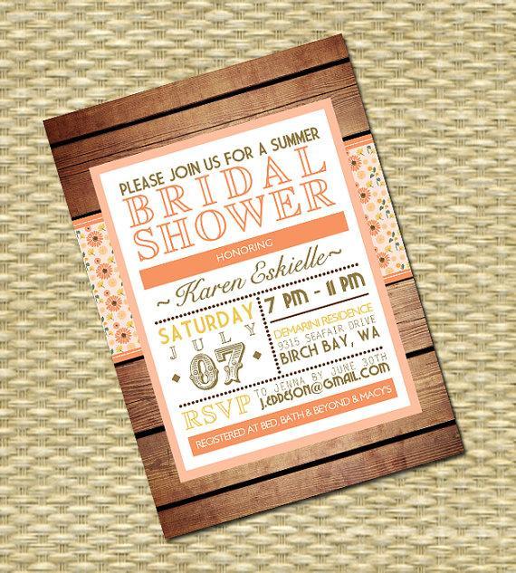 bridal shower invitation wedding shower birthday any event