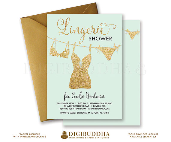You cheap lingerie shower invitations