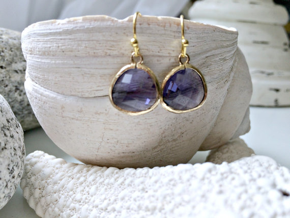 زفاف - Amethyst Earrings,Purple Earrings,Gold Amethsyt Earrings,Amethyst Jewelry,February Birthstone,Beach Wedding,Bridesmaid Earrings,Weddings